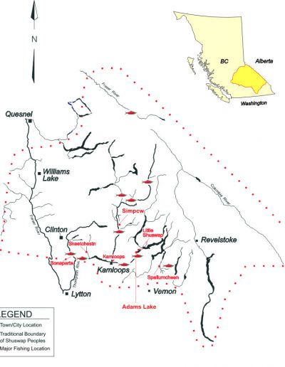 Secwepemc Fishing Locations
